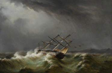 Buttersworth, Thomas; 74-Gun Ship in a Storm; Sewerby Hall Museum and Art Gallery; http://www.artuk.org/artworks/74-gun-ship-in-a-storm-77765